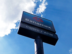 Banamex bank sign: Cajero / ATM