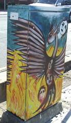 Painted Traffic Signal Box, Ipswich Rd, Annerley Junction, Brisbane, Queensland, Australia 090617