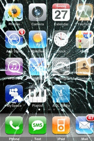 Broken iPhone Screen