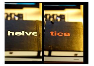 Helvetica Moleskine - Front & Back