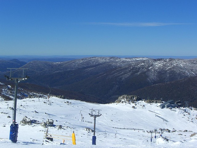 Looking down Karels T-Bar, Thredbo