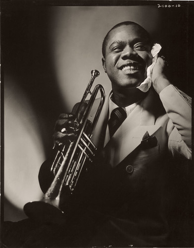Louis Armstrong, one of the key figures in jazz history, inspired musicians to play individual solos instead of playing all at once. Image courtesy of Flickr.