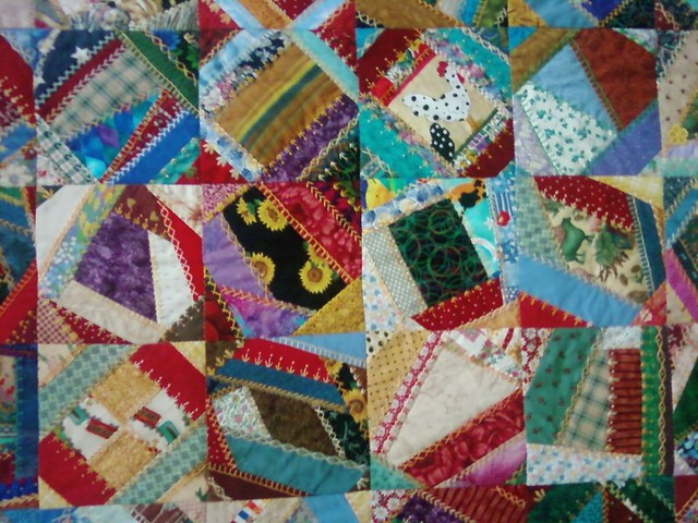 crazy quilt detail from Flickr via Wylio