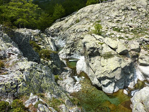 Les gorges de l'Agnone au-dessus de la Cascade des Anglais