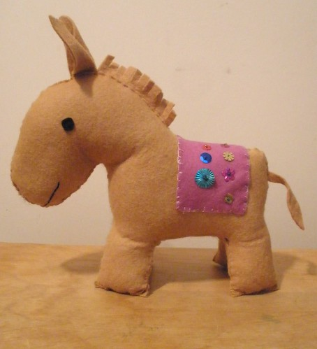 Hand Embroidered Donkey Olivia Made