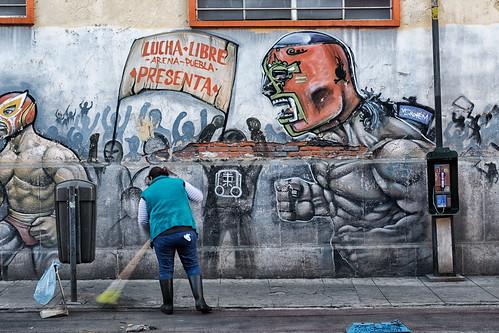 Lucha libre arena, Puebla