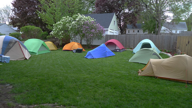 Camping in Chris' Yard