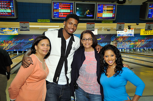 Rudy Gay and family along with Maria Jacinta