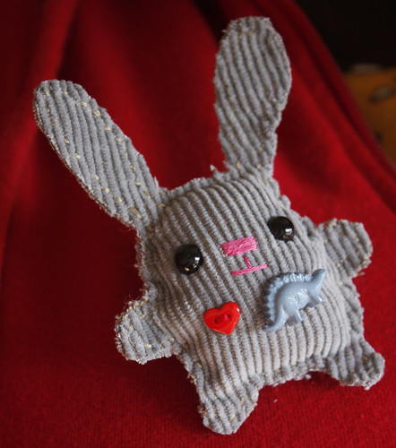Bunny loves Dinosaurs brooch