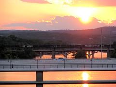 5 Austin bridges at sunset