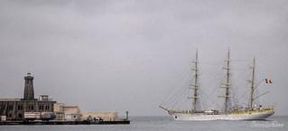Salida del buque escuela Mircea