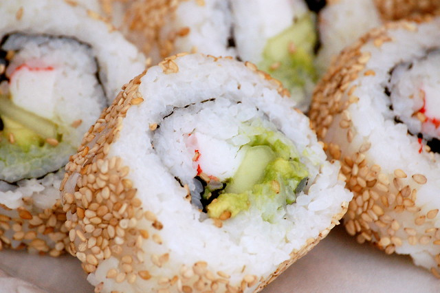 Inside-out California Rolls by CC user sql_samson on Flickr