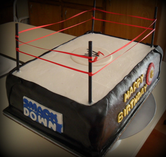 Wrestling Birthday Cakes Pictures