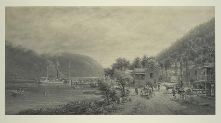 [The Clermont making a landing at Cornwall on the Hudson 181...