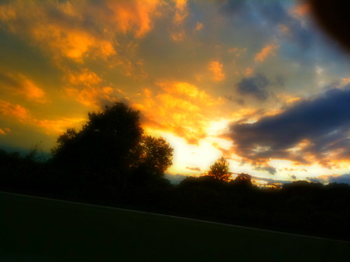 sunset sky clouds landscape saturated colorful bright iphone falllandscape