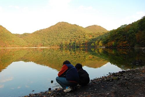 Katanuma-lake(潟沼)/Naruko Onsen(鳴子温泉) October 19,2009