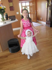 Easter Sunday Bella Porter with cousin Kaytlen Porter headed to church