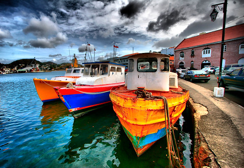 HDR - Carenage Boats