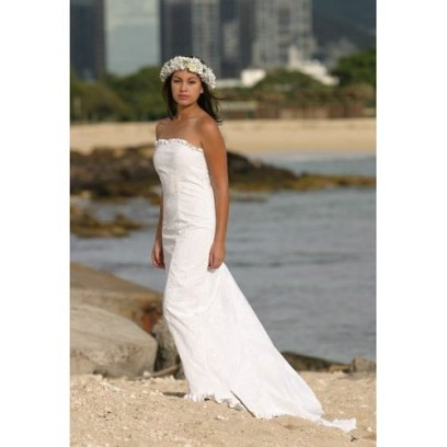 beach wedding dresses hawaiian theme