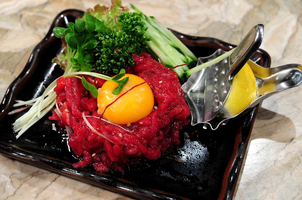 秘苑燒肉-生牛肉刺身 ユッケ刺し (1000)
