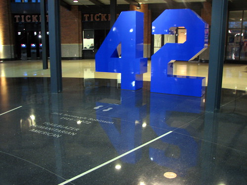 Jackie Robinson's 42 at Citi Field June 10, 2009