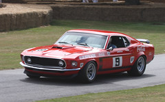 race car, automobile, vehicle, performance car, automotive design, first generation ford mustang, boss 429, ford, land vehicle, muscle car, sports car,