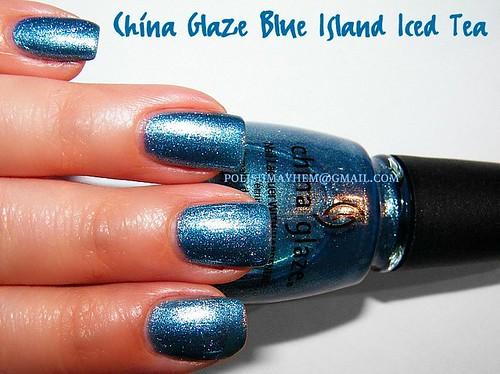 China Glaze Blue Island Iced Tea