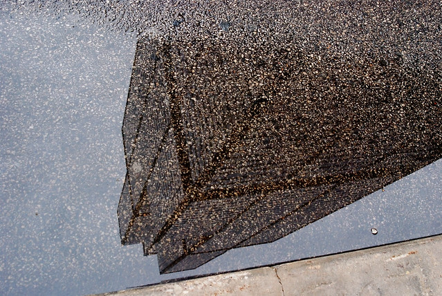 Reflection of the Sears Tower in a Puddle, Chicago, 2009
