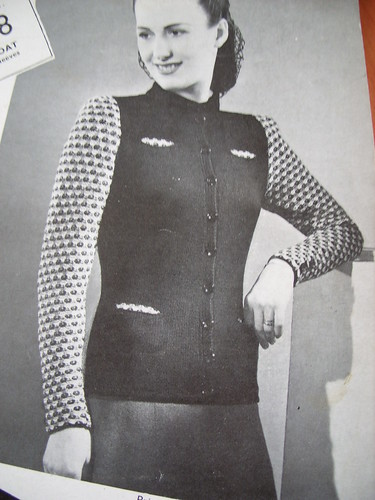 1940's Lady's Knitted Coat/Cadigan