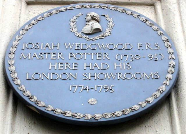 Photo of Josiah Wedgwood blue plaque