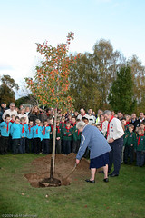 Planting a tree for the Group's 90th Anniversary