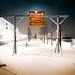 beach club im Schnee - Waterfront Bremen by pkuhnke