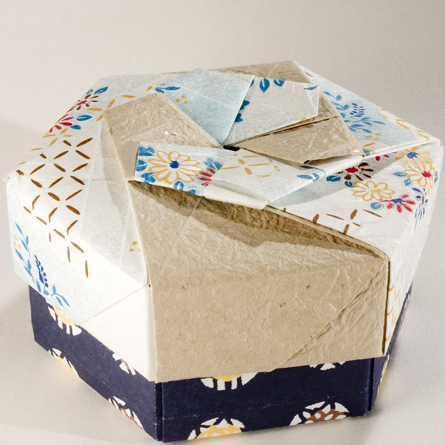decorative hexagonal origami gift box with lid 12 flickr photo sharing. Black Bedroom Furniture Sets. Home Design Ideas