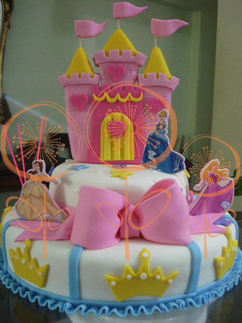 Torta decorada Princesas de Disney 3D | Flickr - Photo Sharing!