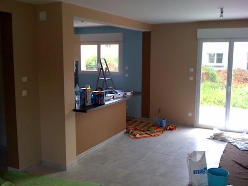peinture salon salle a manger cuisine. Black Bedroom Furniture Sets. Home Design Ideas