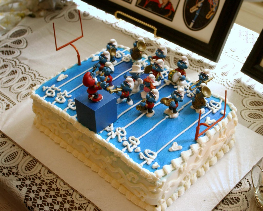 Smurf Turf Groom's Cake (It's Orange-Chocolate!)