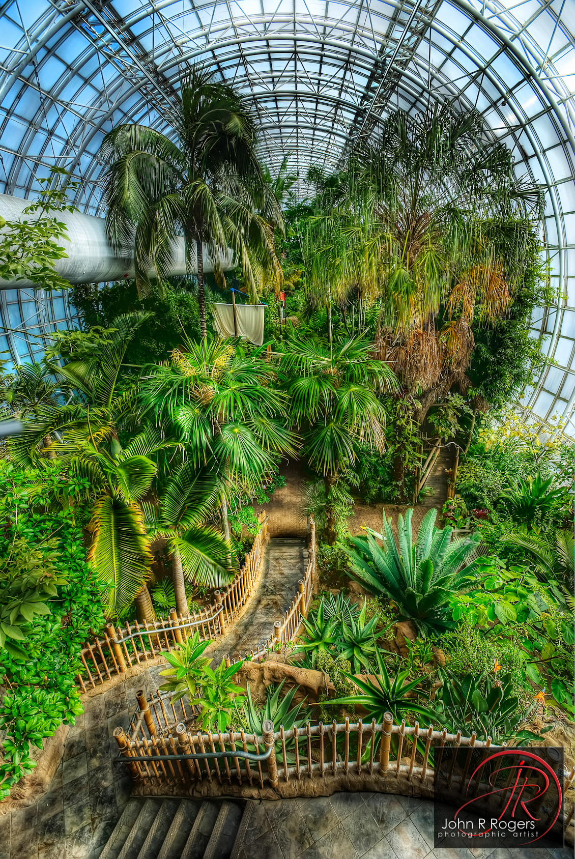 Crystal bridge tropical conservatory flickr photo sharing for Oklahoma city botanical gardens