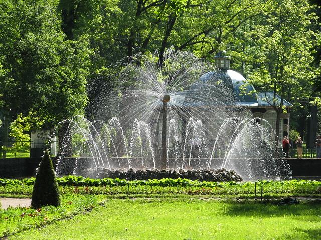 Fuente del Sol. Palacio Peterhof, San Petersburgo. Rusia.