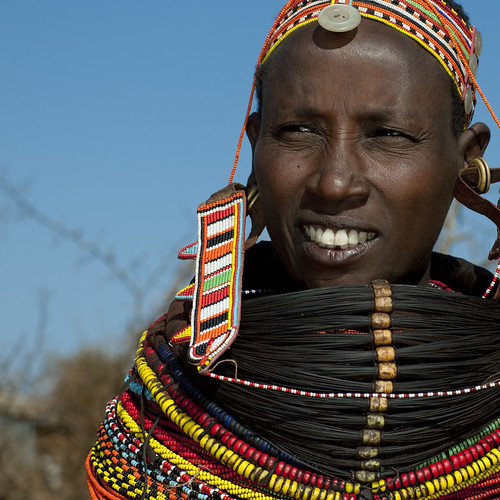 Rendille woman with beaded ornaments - Kenya
