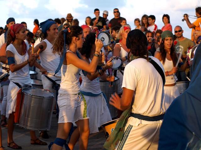 Batucada at Dusk, Boreal Festival, Los Silos, Tenerife