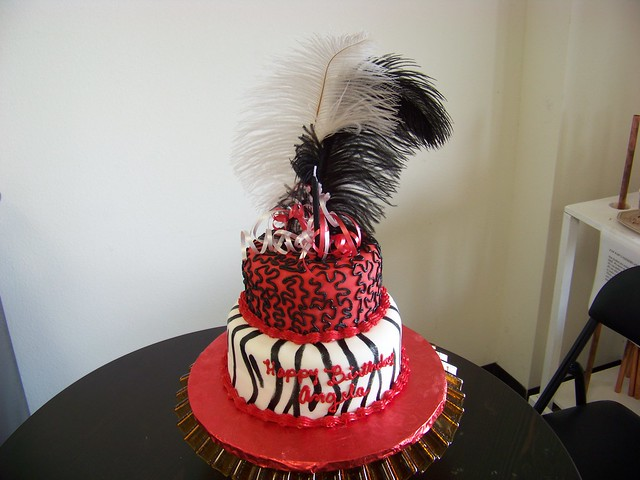 Zebra striped cake flickr
