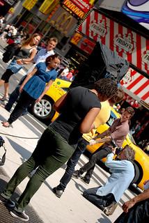 Modelshoot on Times Square