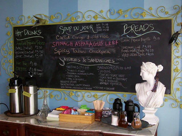 Cafe Food Menu Board At Amelie S Charlotte Nc Flickr