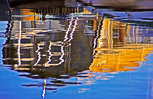 blue white lake reflection canon gold boat idaho mccall mikenpo