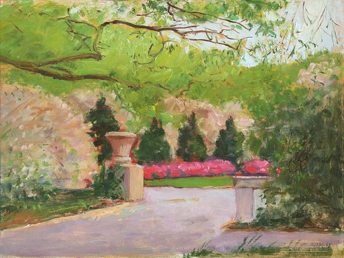 Entrance To The Brooklyn Botanical Garden In Spring Never A Day Without Painting