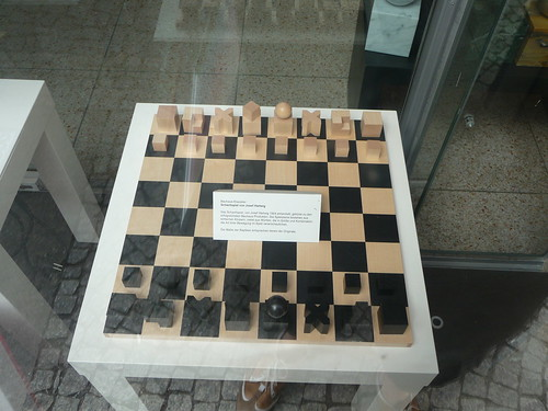 We fell in love with Bauhaus chess set, and at last we can make it!