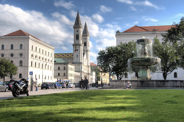 At the University in Munich (Day)