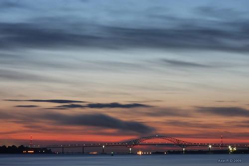 bridge canada sunrise long exposure québec pont qc leverdesoleil nicolet troisrivières fleuvestlaurent laviolette