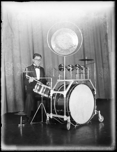 Dance band drummer at Mark Foy's Empress Ballroom