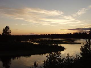 Sonnenuntergang am Siljan